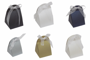 Pearlescent Round Top Party / Wedding Favour Boxes, Choose Colour, Choose QTY